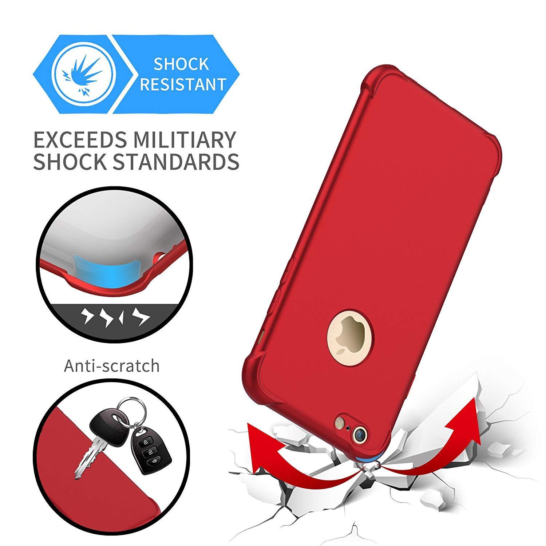 TPU Silicone Anti-Graffio per iPhone 7//8 Cover Rosso 2 x Pellicola Protettiva Vetro Temperato 2 in 1 Custodia iPhone 7//8 Ultra Sottile Hard PC ORETECH Cover iPhone 7 con Cover iPhone 8