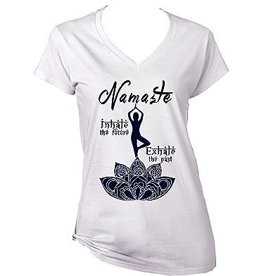 teesquare1st Yoga Namaste Camiseta para Mujer de Algodon Size Xxlarge: Amazon.es: Ropa y accesorios