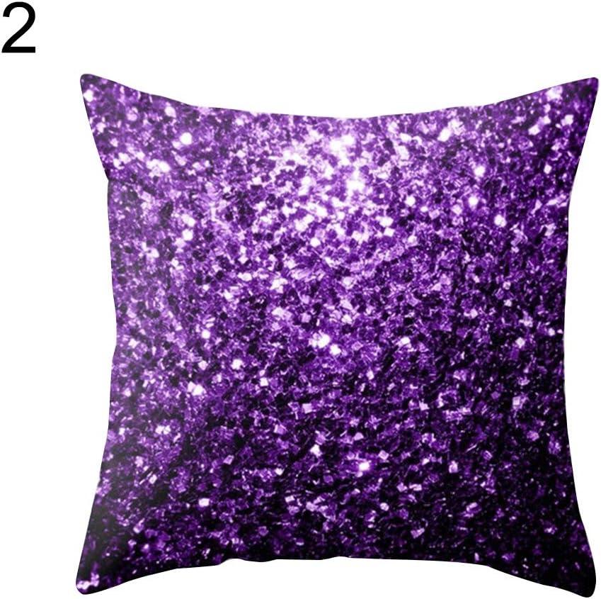 Cotton Purple Plain Solid Bed Pillow Case Queen Standard King slip cover