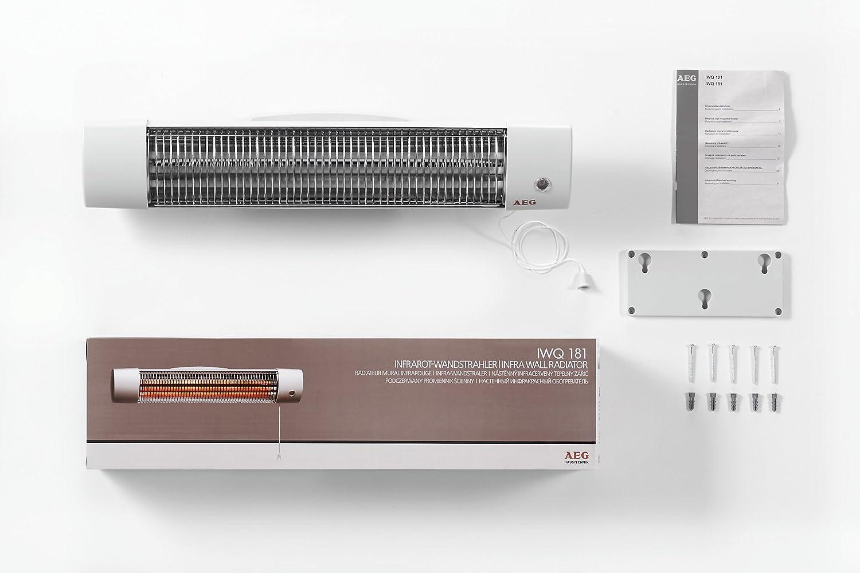 AEG 234821 Stufa a infrarossi al quarzo per il bagno, 3 livelli di ...