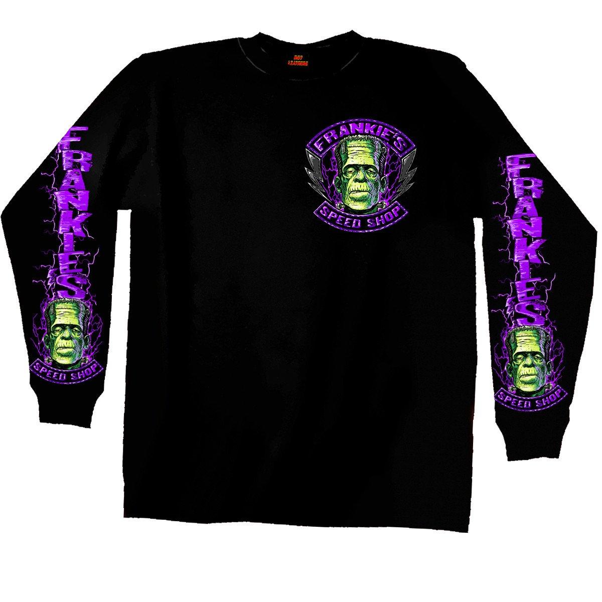 Hot Leathers Men's Frankie's Speed Shop Long Sleeve Shirt (Black, XX-Large)
