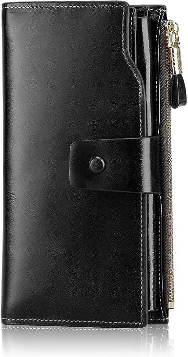 MINYUOCOM RFID Blocking Leather Passport Case Security Wallet Clutch Wristlet