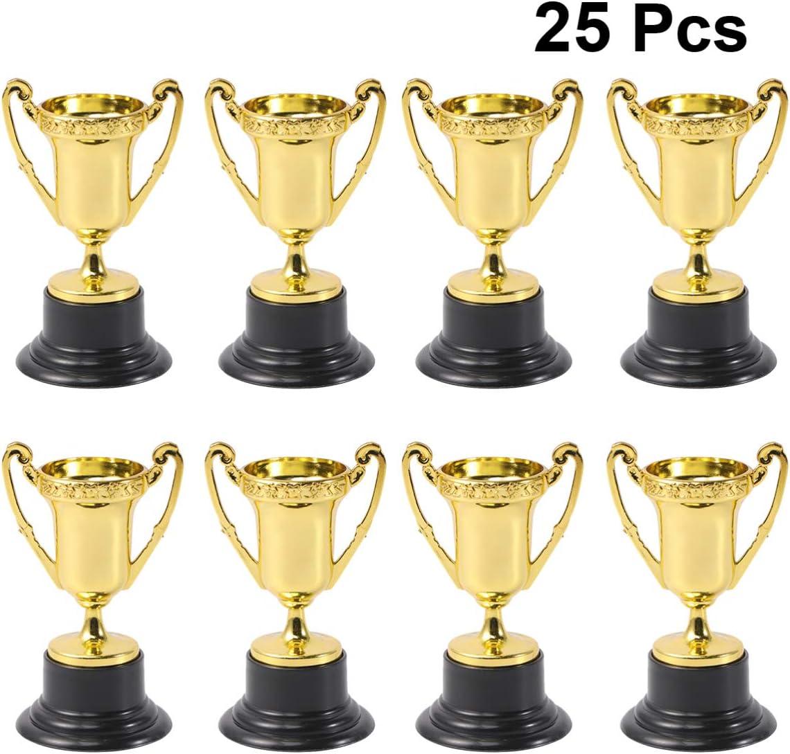 LIOOBO 25pcs Mini Trophy Plastic Durable Safe Premium Winner Awards Plaything Competitions Testimonial
