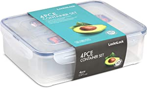 Lock & Lock Stackable Airtight Containers 4 Piece Set