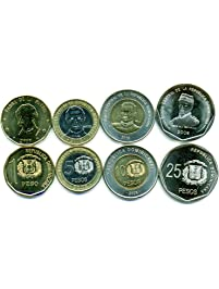 Dominican Republic 4 Coins Set 2008 UNC 1-25 pesos Collectible Coins Caribbean Island Foreign Money