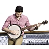 5-String Geared Tunable Banjo with White Jade