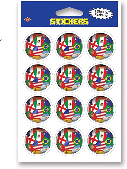 Club 24 unidades multicolor internacional banderas balón de fútbol ...