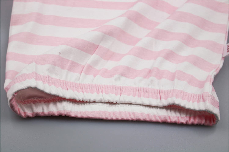 DoMii Baby Boy Girl Night Gown Striped Sleepsack Long Sleeve Cotton Sleeper