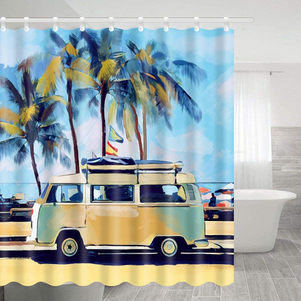 special offer Lierpit Shower Curtain, Hippie Classic Old