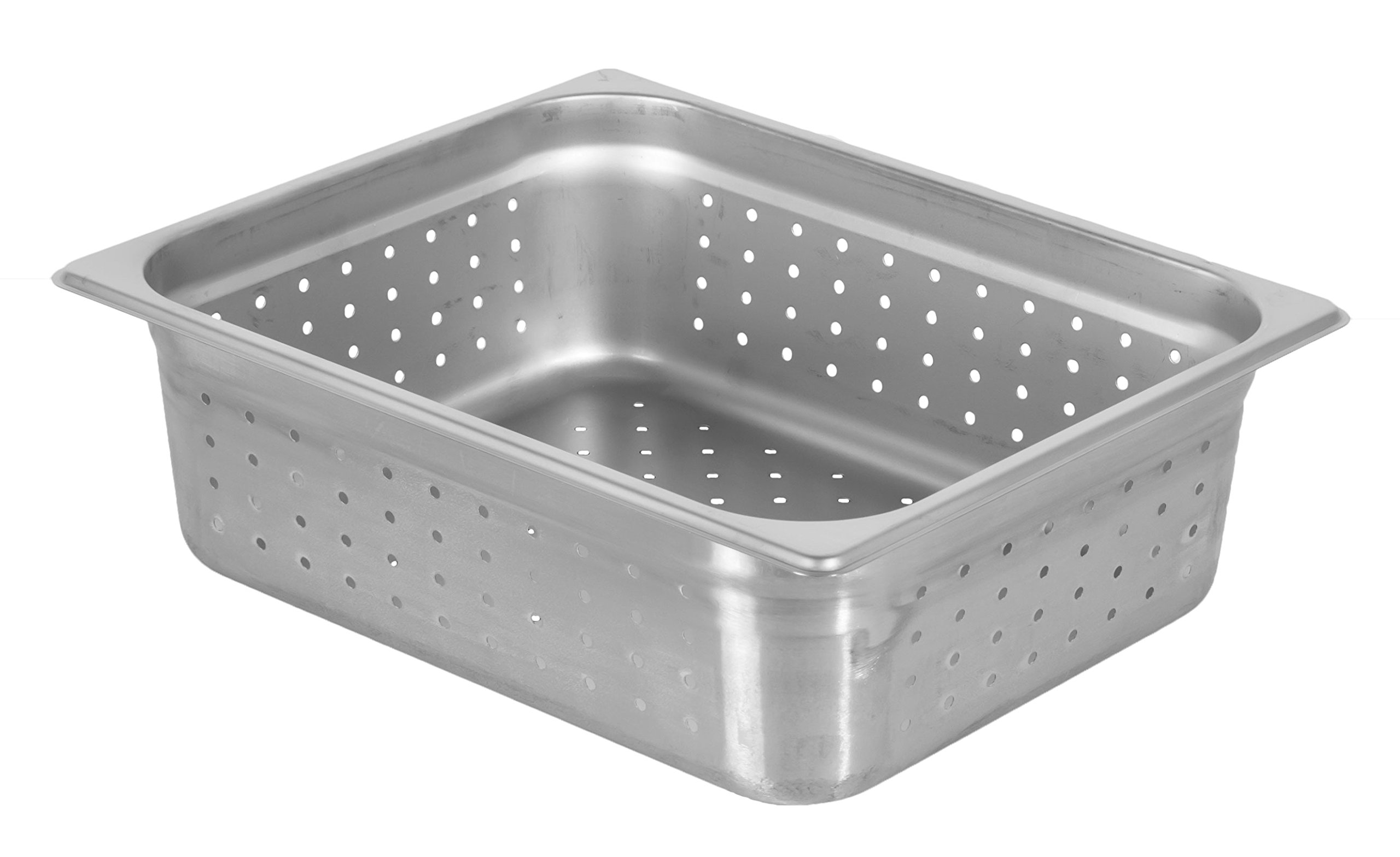Chef's Supreme - 4'' Half Size Perforated Stainless Food Pan
