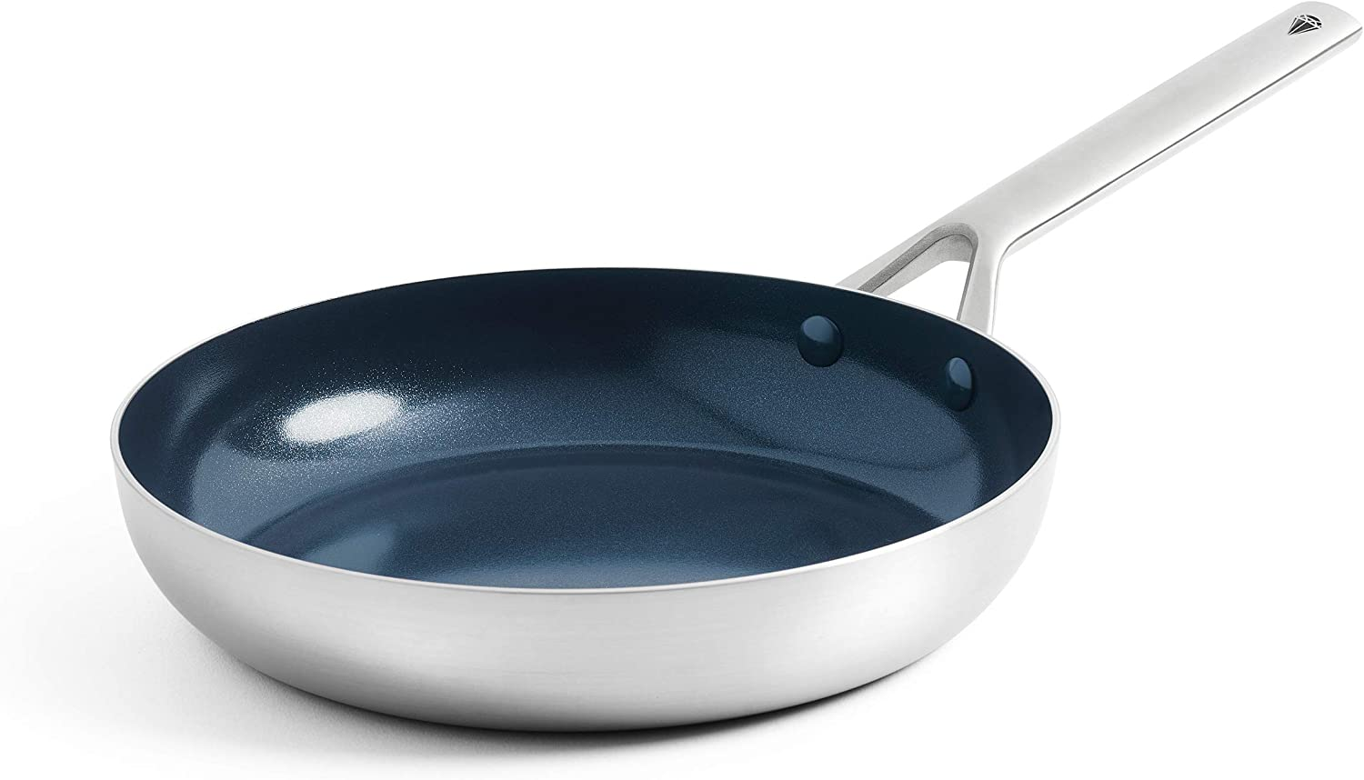 Blue Diamond Cookware Triple Steel Diamond-Infused Ceramic Nonstick Dishwasher, Oven, Broiler, Metal Utensil Safe Stainles