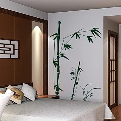Amazoncom Vinyl Bamboo Wall Decal Bamboo Decal Quotes Tree Wall