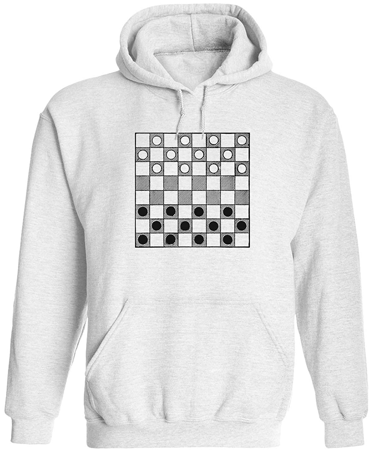 Austin Ink Apparel Checkers Board Unisex Adult Hooded Pullover Sweatshirt