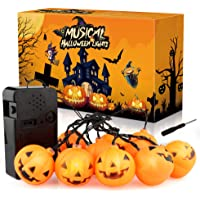 Growsland Halloween LED 10-ft. Talking Pumpkin String Lights
