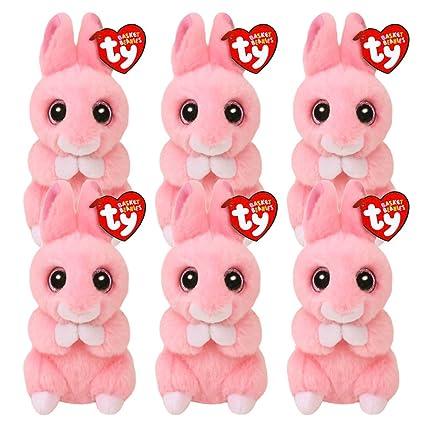 Amazon.com  Bunny Party Favors Ty Set -- 6 Ty Plush Beanie Bunnies ... 052ebe21b53