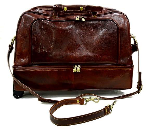 9e5af6395 Bolso de viaje con ruedas bolso hombre bolso de cuero bolso mujer bolso de mano  bolso