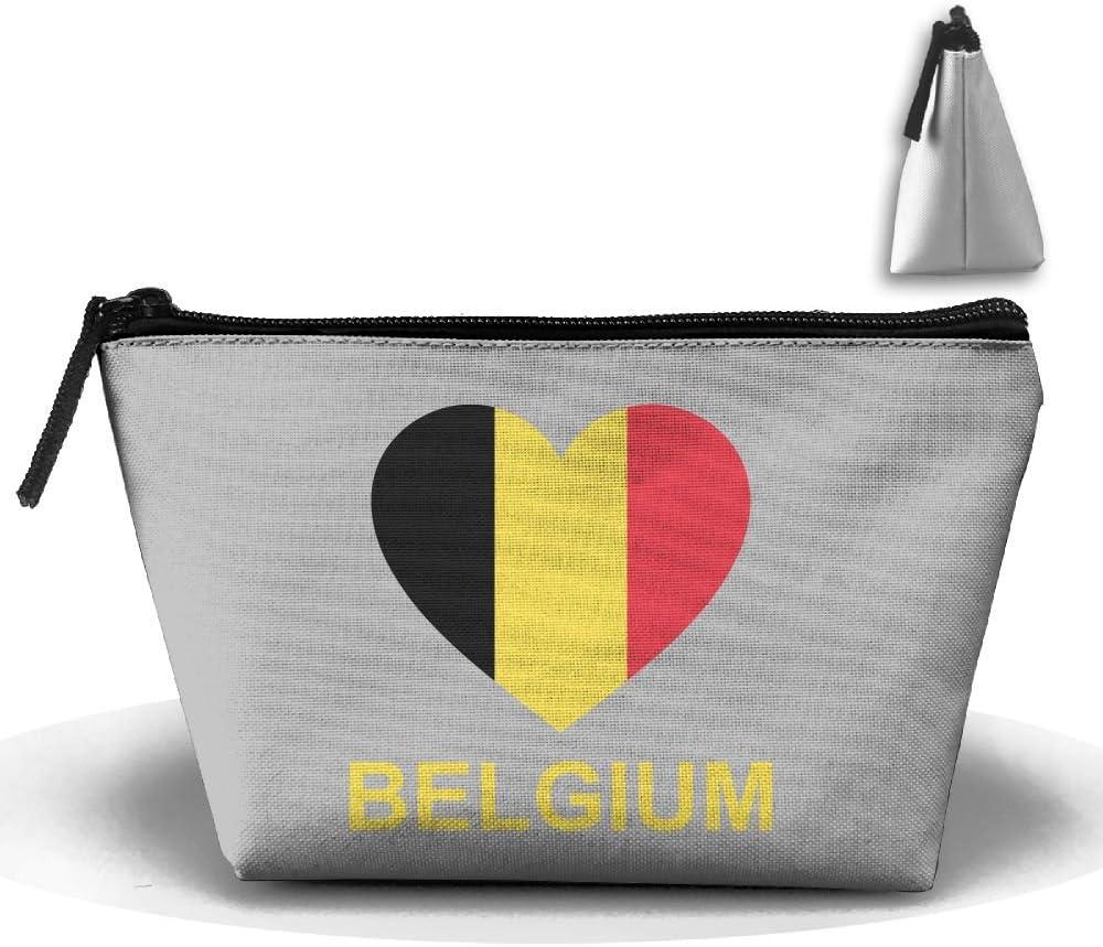 Love Belgium Trapezoid Travel Storage Pouch Clutch Bag Organizer