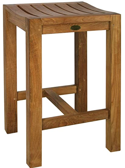 Amazon.com: Teak Santa Monica Counter Stool Made By Chic Teak And ...