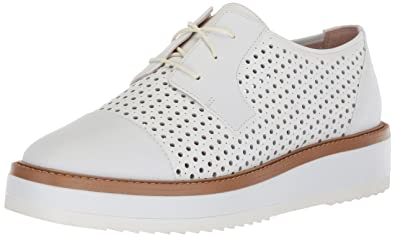 34c375ba0ed Nine West Women s VERWIN Leather Oxford Flat White