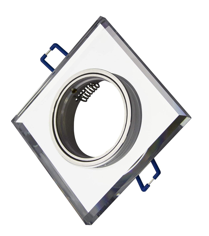3/x tg6729s-3B carr/é acier Luxe Design Spot Aluminium et verre miroir 3/x GU10/3/W Power SMD Ampoule LED 230/V