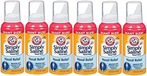 Arm & Hammer Simply Saline Nasal Mist Giant Size: 6 Packs of 4.25 Oz