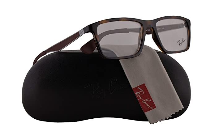 8910634a16 Amazon.com  Ray-Ban RX7056 Eyeglasses 53-17-145 Tortoise w Demo Clear  Lenses 2012 RB 7056 RX 7056 RB7056  Clothing