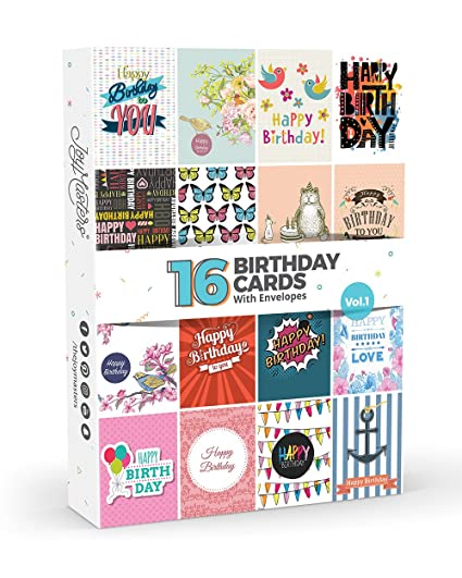 Amazon 16 X Birthday Cards By Joy Masterstm Vol1 Multipack