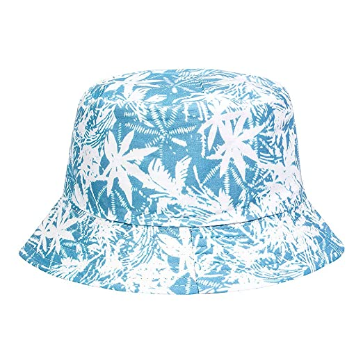2e093a7304ca2 Image Unavailable. Image not available for. Color  Blue Banana Tropical Canvas  Bucket Hat ...