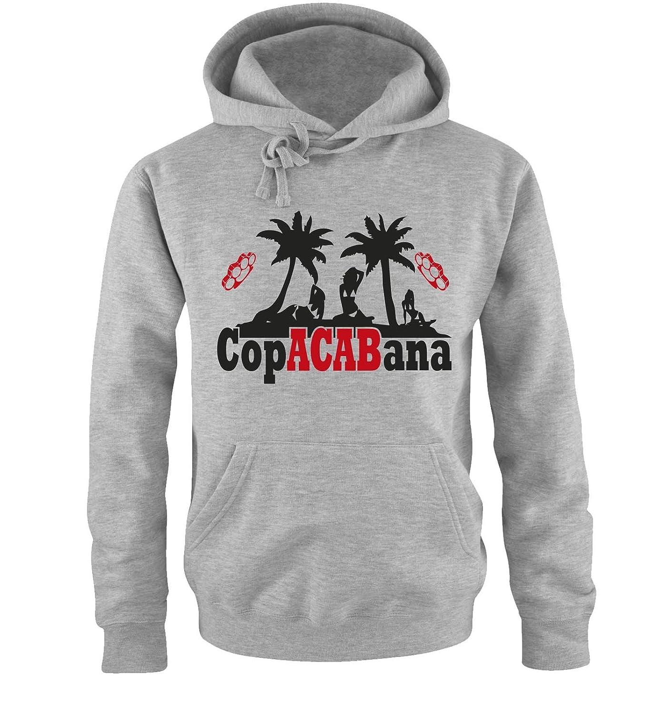 Comedy Shirts CopACABana Zweifarbig Herren Hoodie Gr. S bis XXL Versch. Farben