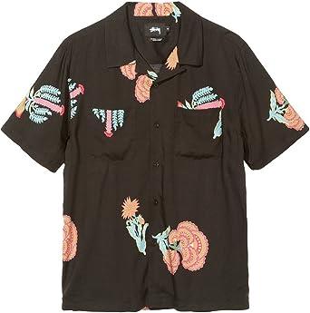 Stussy Camisa Casual - para Hombre Negro M: Amazon.es: Ropa y accesorios