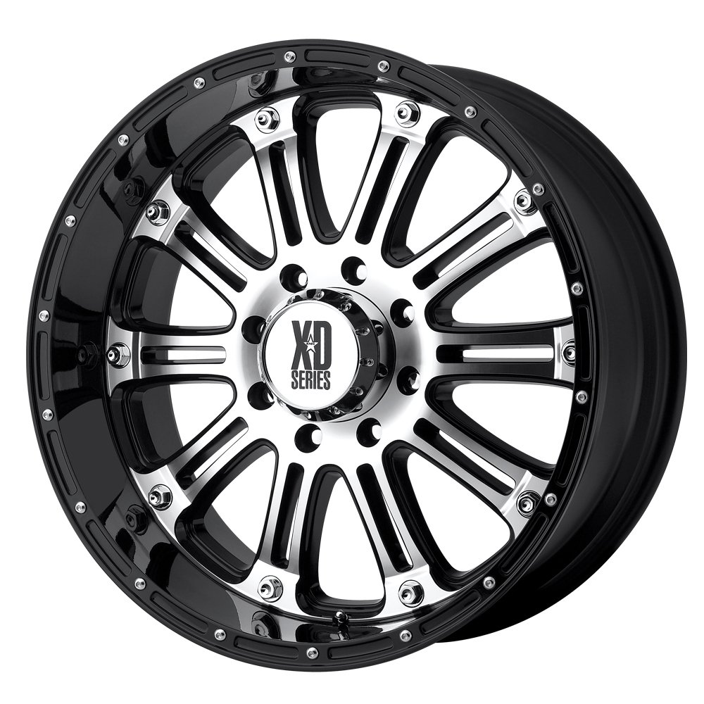 XD Series by KMC Wheels XD795 Hoss Gloss Black Wheel With Machined Face 17x9//8x165.1mm, -12mm offset