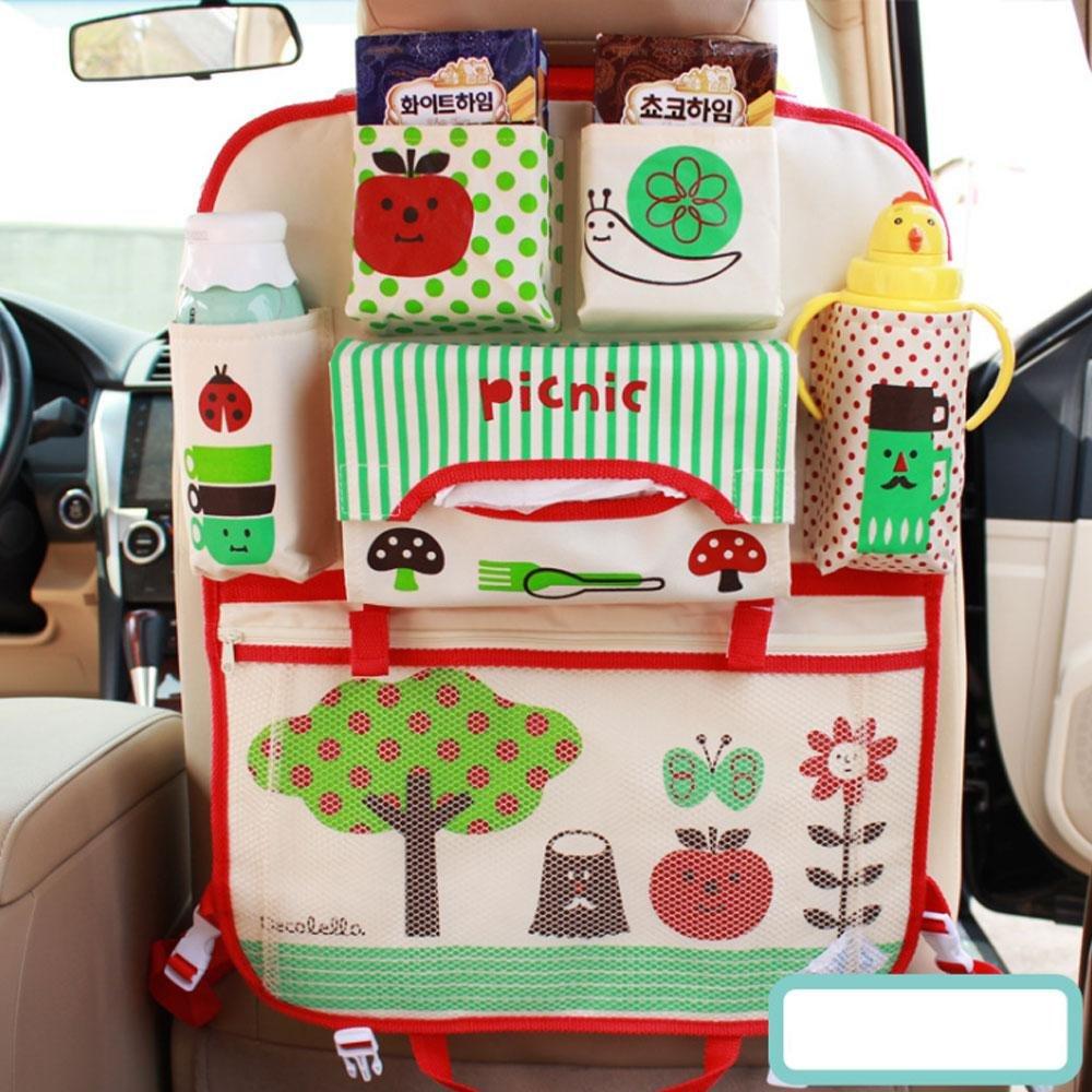 Teepao Organiseur pour si/ège arri/ère de voiture pour enfant et b/éb/é motif dessin anim/é le rangement des jouets et la protection du si/ège id/éal pour le voyage