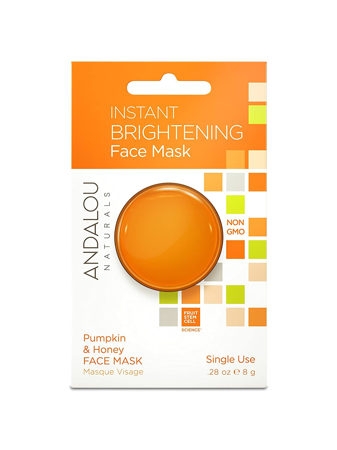 Andalou Naturals Instant Brightening Pumpkin & Honey Face Mask Pod, 0.28 Ounce