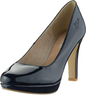 22410, Zapatos de Tacón para Mujer, Azul (Navy Patent), 42 EU s.Oliver