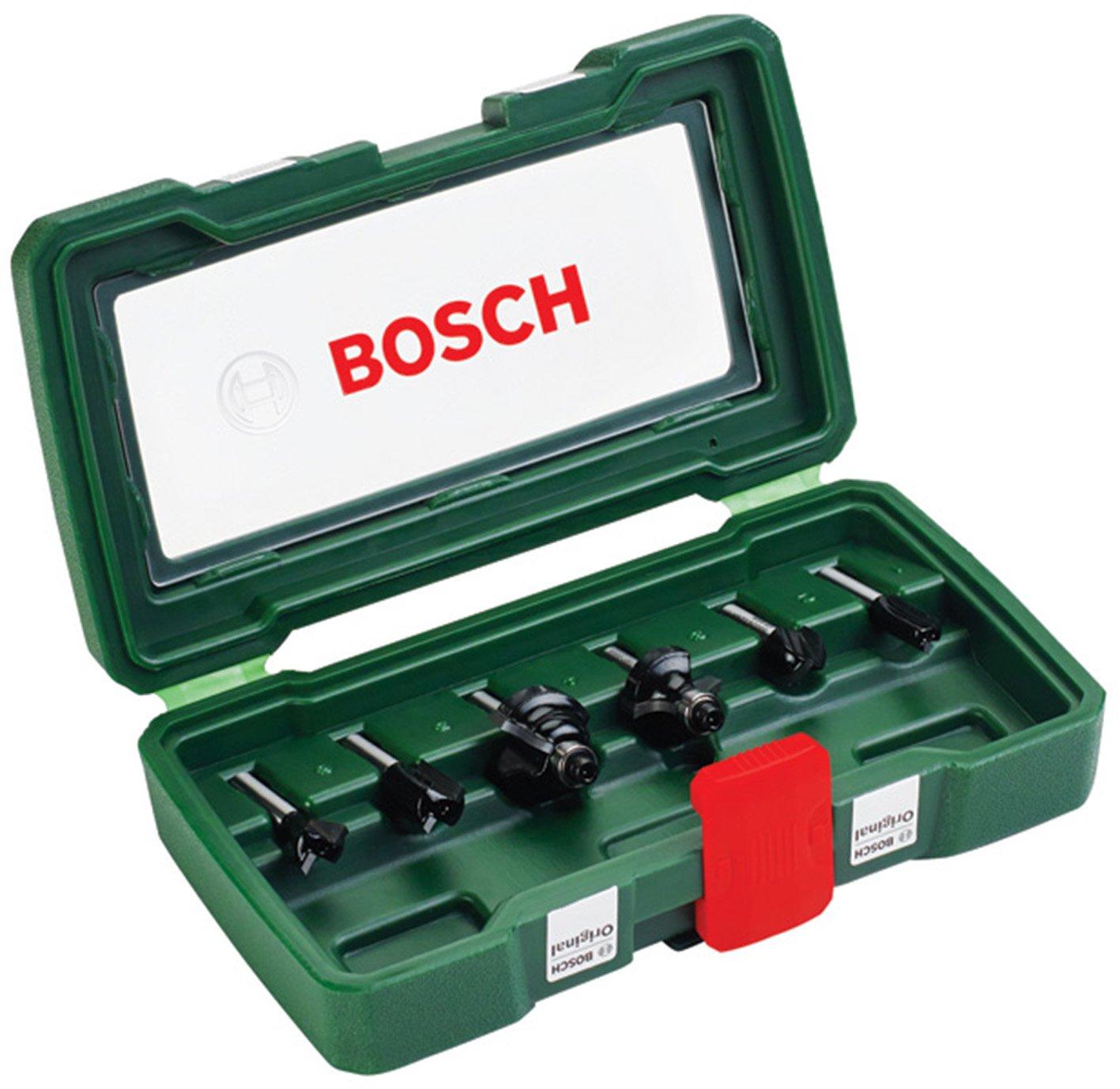 Bosch DIY 6tlg. Fräser-Set HM (Ø 6 mm) 2607019464