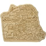 Totally Bamboo City Life Serving Board, San Francisco, 100% Bamboo Board for Serving and Entertaining
