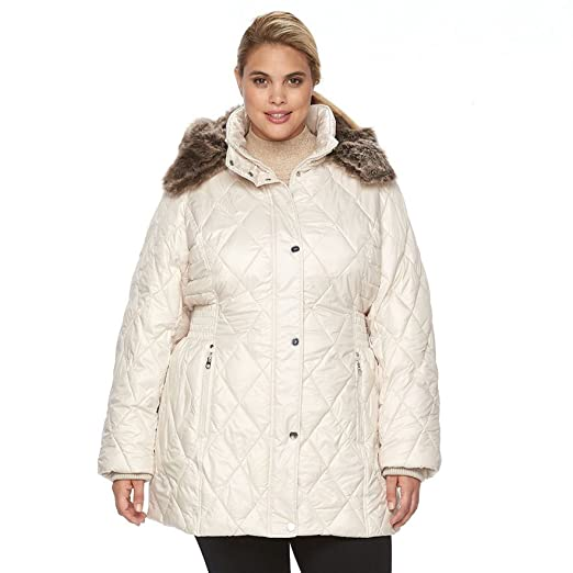 24a058a4b2 Image Unavailable. Image not available for. Color: Apt 9 Women's Plus Size Hooded  Quilted Puffer Jacket ...