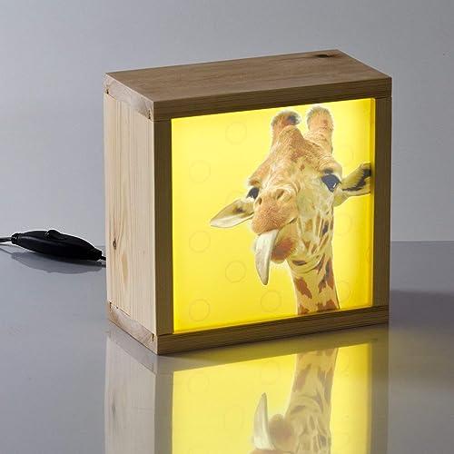 Caja de luz infantil jirafa para la decoración de habitación infantil, Luz quitamiedos led.
