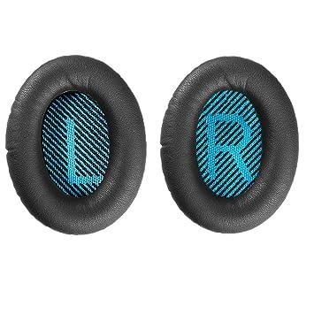 Bingle Reemplazo de Espuma Almohadillas para la Oreja Cojín para Bose Quiet Comfort 15 QC15 QC25 QC35 Ae2 Ae2i Ae2w Around Auriculares