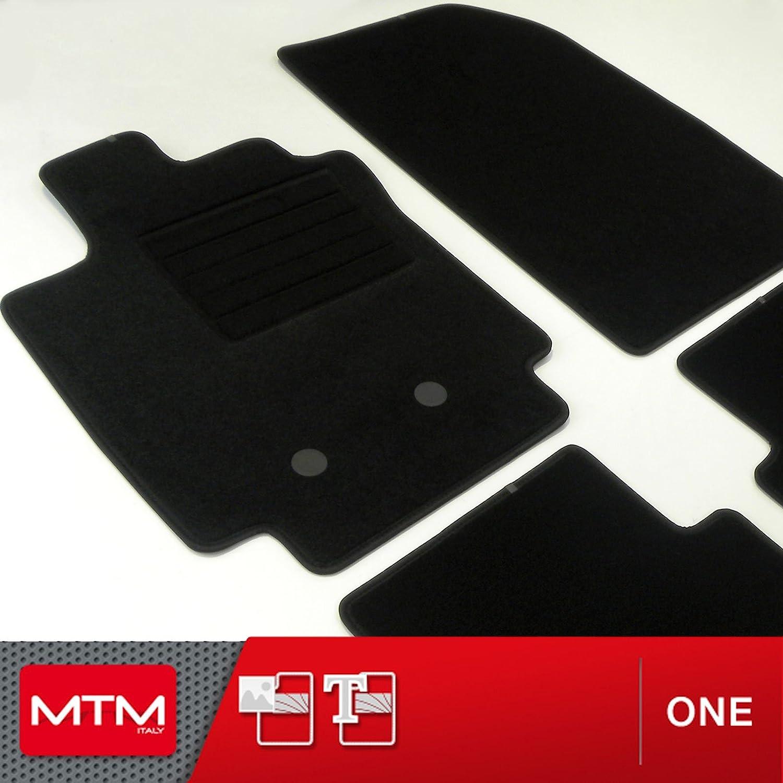 MTM Tapis de Sol Clio III Depuis 09.2005 cod One fr1737 sur Mesure en Velours Noir