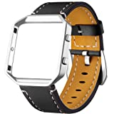 Amazon Price History for:Dizywiee For Fitbit Blaze Leather Bands with Metal Frame, Classic Genuine Leather Wristband for Fitbit Blaze Replacement Fitness Strap Women Men