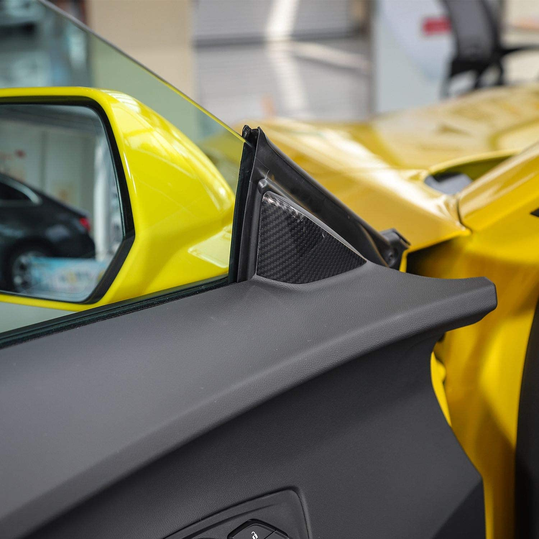 RT-TCZ Door Triangle Area A Pillar Cover Trim for Chevrolet Camaro Accessories ABS Trim Decor for Chevrolet Camaro 2017 2018 2019 2020