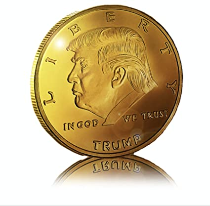 Novelty Coins USA Gold Plated Donald Trump Coin with Display Case - Limited  Collector's Edition - Signature Slogan