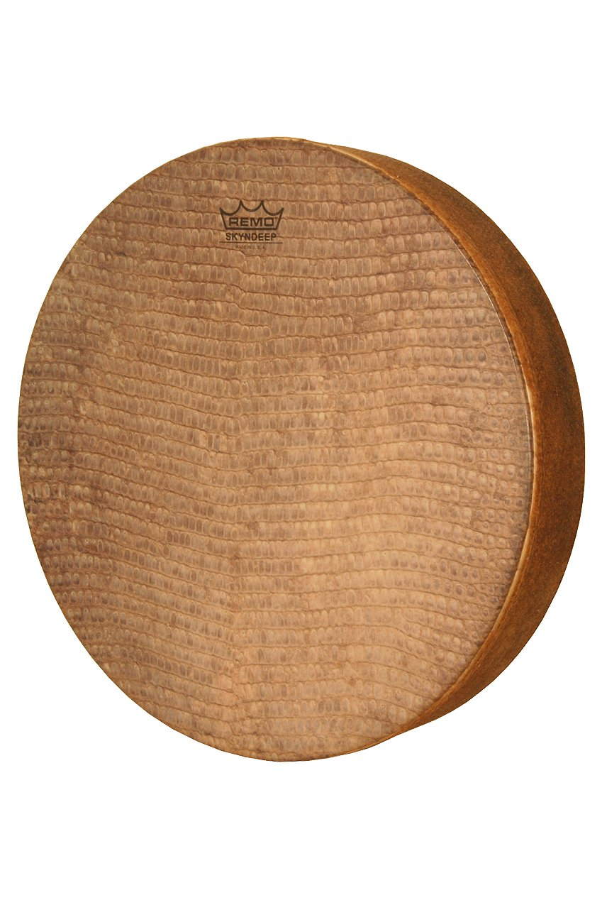 Remo Tar, Frame Drum, SKYNDEEP Fixed Snake Skin Graphic, 16'' x 3''