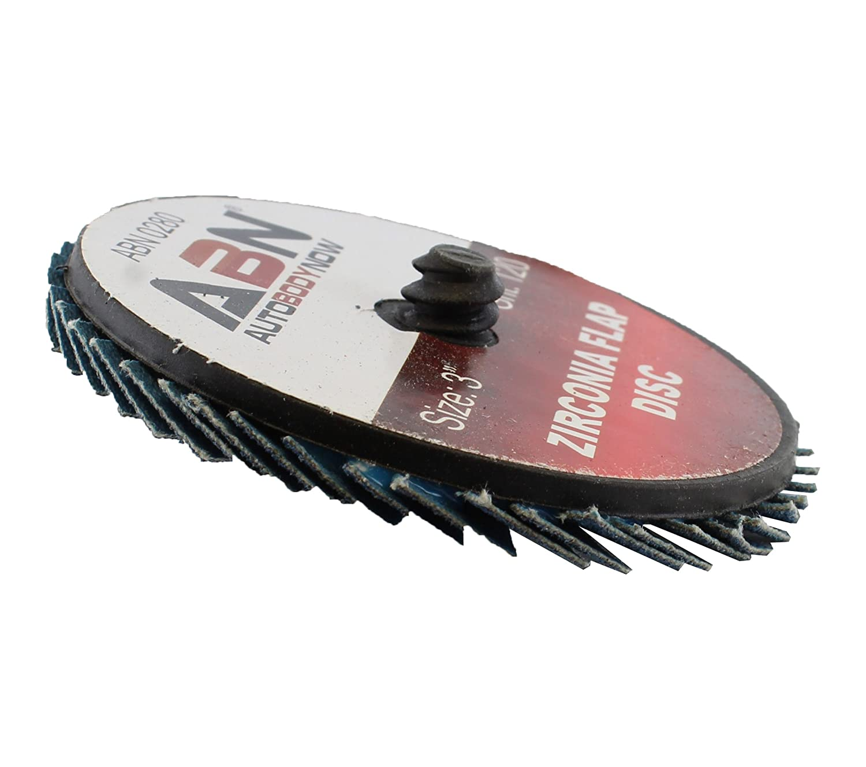 "ABN 3/"" T27 120 Grit High Density Zirconia Alumina Flat Flap Disc Roloc Roll Lock Grinding Sanding Sandpaper Wheels 10 PK"