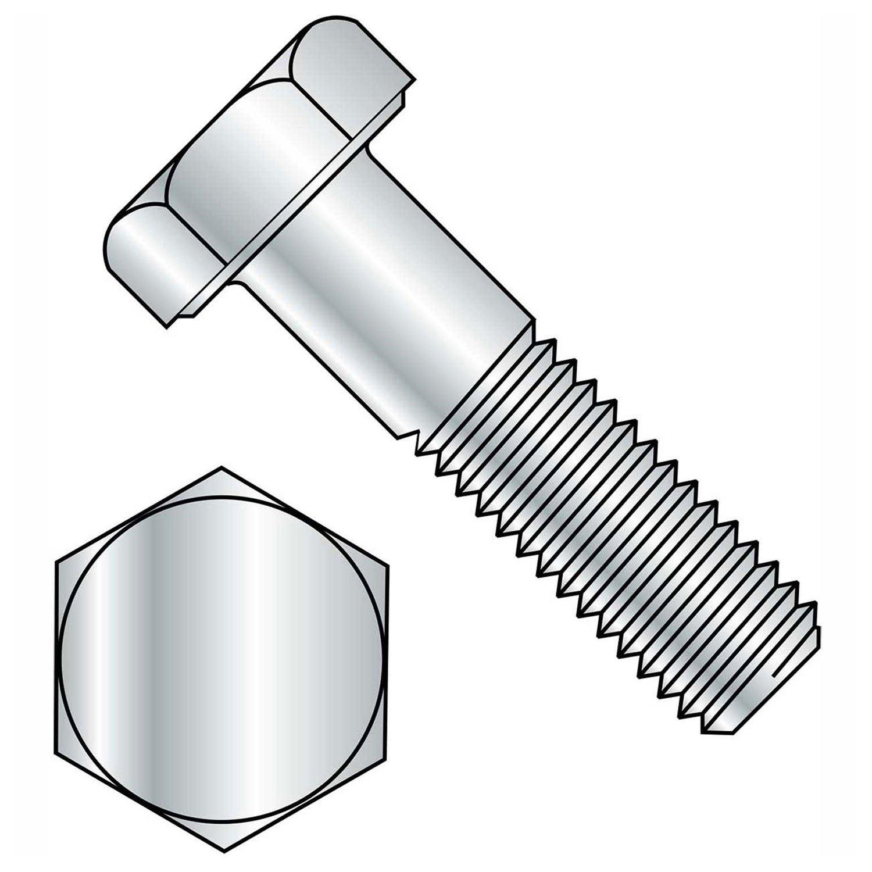 5//16-18 Thread Size External Hex Brighton-Best International 494031 Hex Low-Strength Zinc-Plated Head Screw Steel Pack of 100 2-1//4 Long