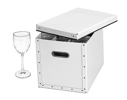 Gentil Cargo Modern Stemware Storage Box, White, 10 By 9 3/4 By