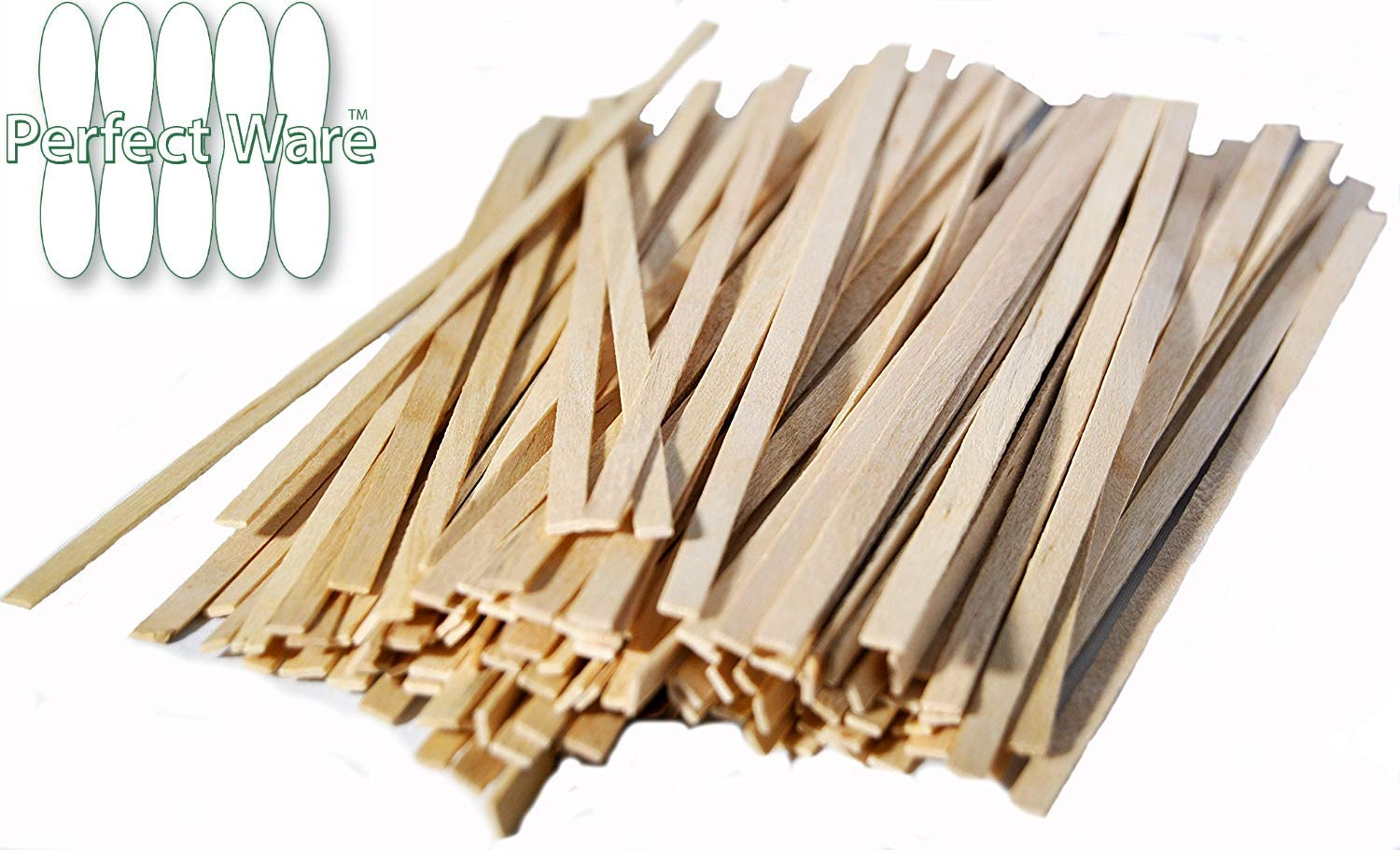 Perfect Stix Perfectware PW CS 200-2000ct Wooden Coffee Stirrer with Square Ends, 5.5'' (Pack of 2000)