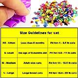 VICTHY 140pcs Cat Nail Caps, Colorful Pet Cat Soft
