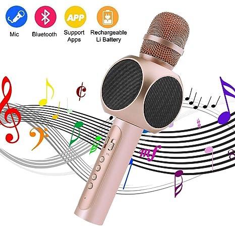 Microfono per Bambini, Microfono per Karaoke Portatile Wireless